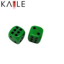 16mm Unique Design Green with Black Dots Dice Wholesale