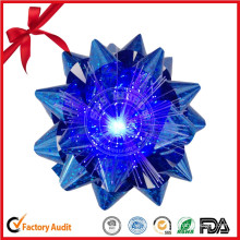 LED Light Ribbon Bow with Battery / 7 Color Star Bow