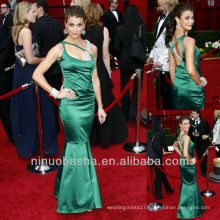 Mermaid Sweep Train One Shoulder Green Celebrity Dress Red Carpet Gown