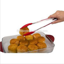 Stainless Steel Handle Kitchen Tongs Food Grade Silicone Cake Tong