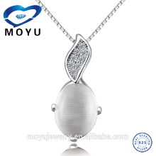 Stock 925 Sterling Silver top quality Pend Opal Pendant wholesale fashion rhodium pendant For Women factory Price,12pieces /lot
