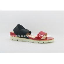 Nueva señora atractiva Sandals de la manera con el talón plano de las mujeres
