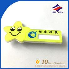 Estrella de la sonrisa gracioso nombre insignia material plástico