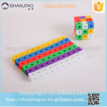 Recursos de aprendizagem Mathlink Cubes Venda Quente Kid Toy Criativo Blocos de Construção, Plastic Linking Cubo Bloco, Brinquedo de Inteligência Educa