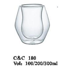 Drink Glass Gift Set Clear Glass Beverage Cup Without Handle in Color Box Packing