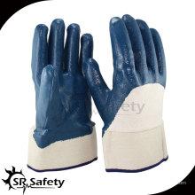 Лучшие трикотажные нитриловые перчатки с покрытием 3/4, рабочие перчатки, защитная манжета