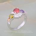 Silver plated men's ring model bijouterie brass jewelry