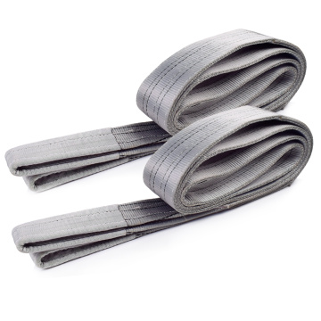 4 Ton Capacity 4M Or OEM Length 120MM Width Lifting Flat 4T Webbing Sling Belt Gray Color Safety Factor 8:1 7:1 6:1 Type
