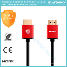 Alta velocidad 1.4V chapado en oro Plug macho-macho HDMI Cable