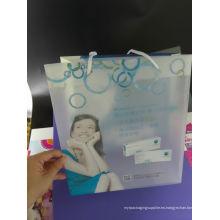 Bolsa de compras de PP \ PVC de la impresión de la alta calidad con la manija