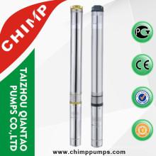 Chimp 4 Inchs de acero inoxidable de alta presión 1.0 HP de pozo profundo Sumbersible bomba de agua