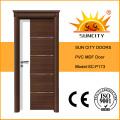Puerta caliente del PVC del panel del MDF de la venta, puerta del PVC con la corona de la puerta (SC-P173)