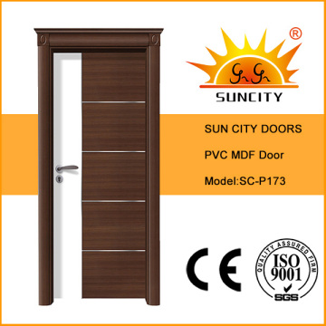 Горячая Продажа панели МДФ, ПВХ двери, ПВХ двери с короной дверь (СК-P173)