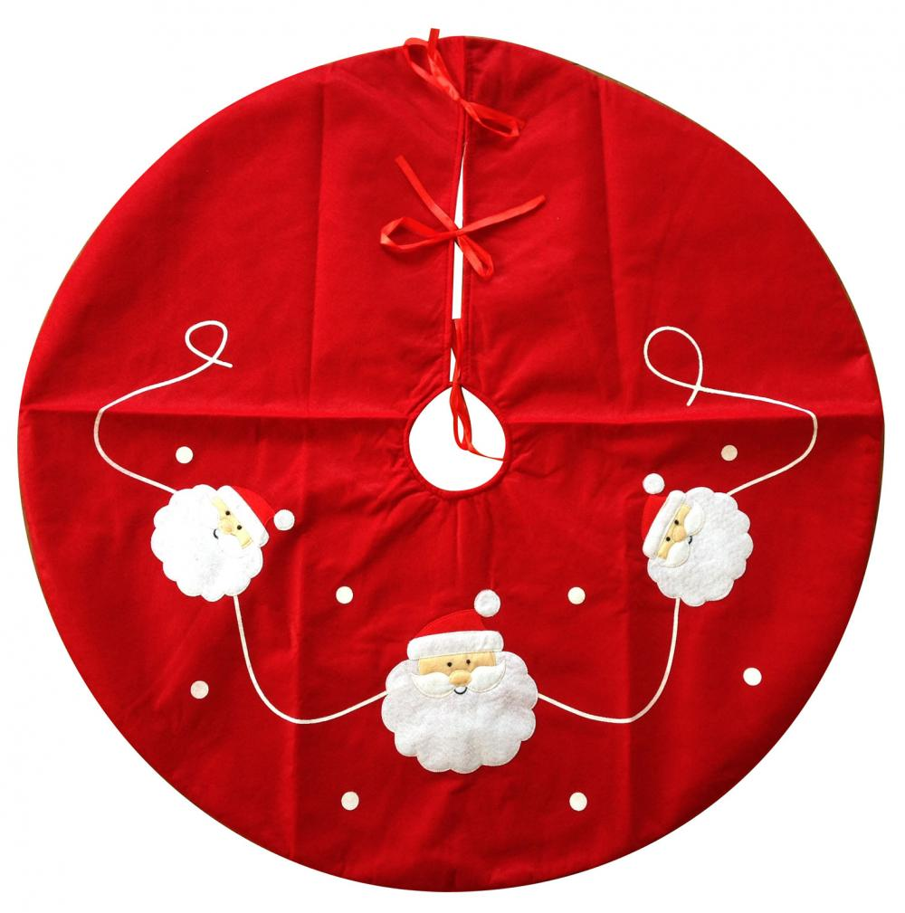 Red Santa Pattern Tree Skirt