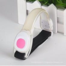 Brassard de sport de fonctionnement de LED avec la bande réfléchissante Veclor fermée
