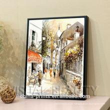 Pintura a óleo feita sob encomenda moderna da cena da rua na lona
