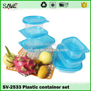 Ningbo plastic bowl factory hot sale luxury food container set clear biodegradable disposable plastic tableware