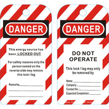 BOSHI BD-P01 Safety Lockout Tags --Do not operate! Danger!