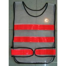Chaleco de segurança de malha de alta visibilidade / colete de trânsito para estrada