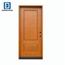 Precio de la puerta de fibra de vidrio de la casa Fangda con textura de pintura de cáscara de naranja