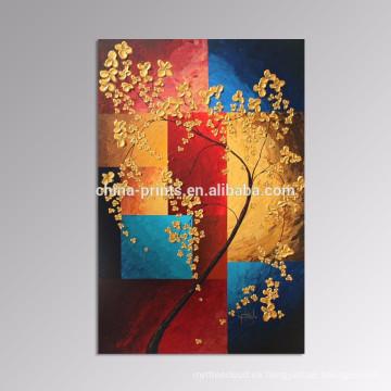 Pintura afortunada de la lona del árbol / arte de la pared de la decoración casera / pintura del arte de Dropship