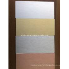 Feuille d'aluminium brossé / aluminium pour mur de décoration