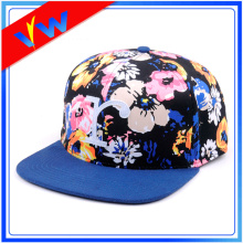 Custom Applique Logo Floral Crown Snapback Cap