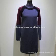 2016 nuevo invierno de diseño de moda de punto suéter de cachemira de las mujeres de suéter de cachemira de fábrica india