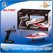 Barcos de alta velocidad del juguete del rc del barco del control de radio del feilun FT007 2.4Ghz del alto rendimiento para la venta