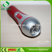 Factory price ABS material led flashlight 3 led plastic torch