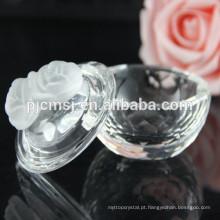 Caixa de jóias de cristal pequena decorativa COM020
