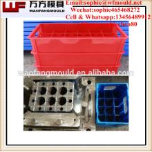 Taizhou OEM Custom plastic beer crate&beer bottle crate injection mould