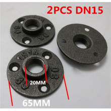 "black malleable iron floor flange 1/2"" 3/4"""