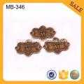 MB346 Antique Brass Metal Garment Tag Ropa Nombre del metal Etiquetas Metal Etiqueta Etiqueta