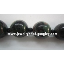 green black red and white color mix ball shape ceramic beads