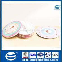 2016 popular copo de bolo de estilo rosa 2 tier placa de bolo de porcelana e conjunto de servidor