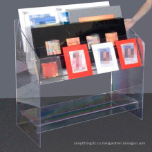 Акриловая подставка для дисплея / акриловый дисплей для книги, журнала (MDR-046)