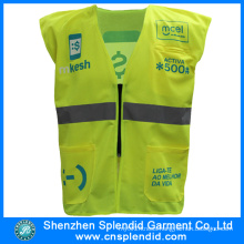 Competitive Price High Visibility Reflective Light Yellow Safety Vest with Logo
