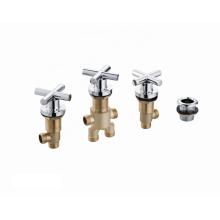 Hot sales modern brass bath sanitary ware hot cold mixer taps  water stop valve bathtub faucet