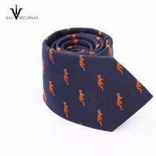 Cravate 100% de polyester de microfibre de logo fait sur commande de haute qualité