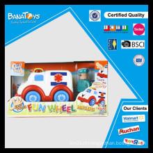 Roda fácil do carro do brinquedo da ambulância do toque fácil