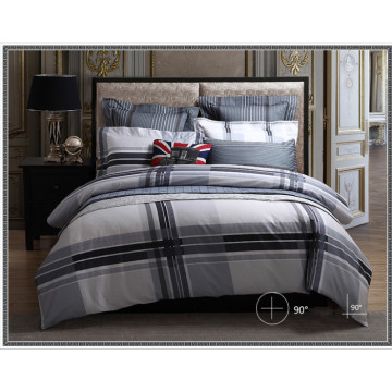 Heißer Verkauf 100% Baumwolle Fashion Print Grid Bettwäsche-Sets