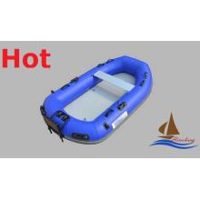 Mazarine Blue Inflatable PVC Zodiac Boat for Fishing Drifting