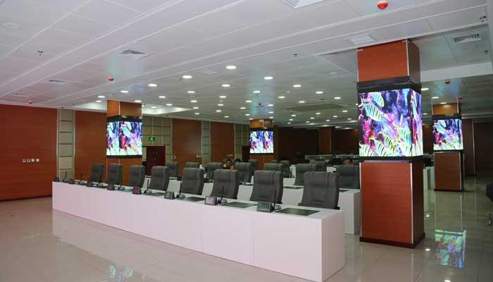 conference picture about P1.6 Indoor UHD LED Display Screen