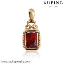 32915 Xuping wholesale cremation ashes jewelry pendant Saudi Arabia gold designed pendant