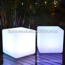Novidade! New & Hot Party / cor do casamento que muda a cadeira da luz do cubo do diodo emissor de luz