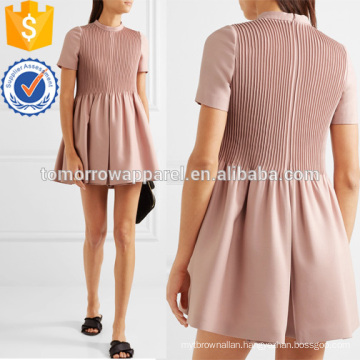 Pleated Wool and Silk-blend Playsuit Manufacture Wholesale Fashion Women Apparel (TA3029J)