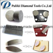 Segment ovale de meulage de rectangle de flèche ronde pour la garniture en métal trapézoïdale