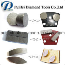 Round Arrow Rectangle Oval Grinding Segment for Trapezoid Metal Pad