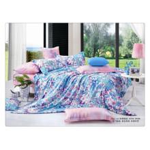 Floral de lujo 40s 128 * 68 pigmento de impresión 100% algodón ropa de cama diseñador funda de edredón conjuntos